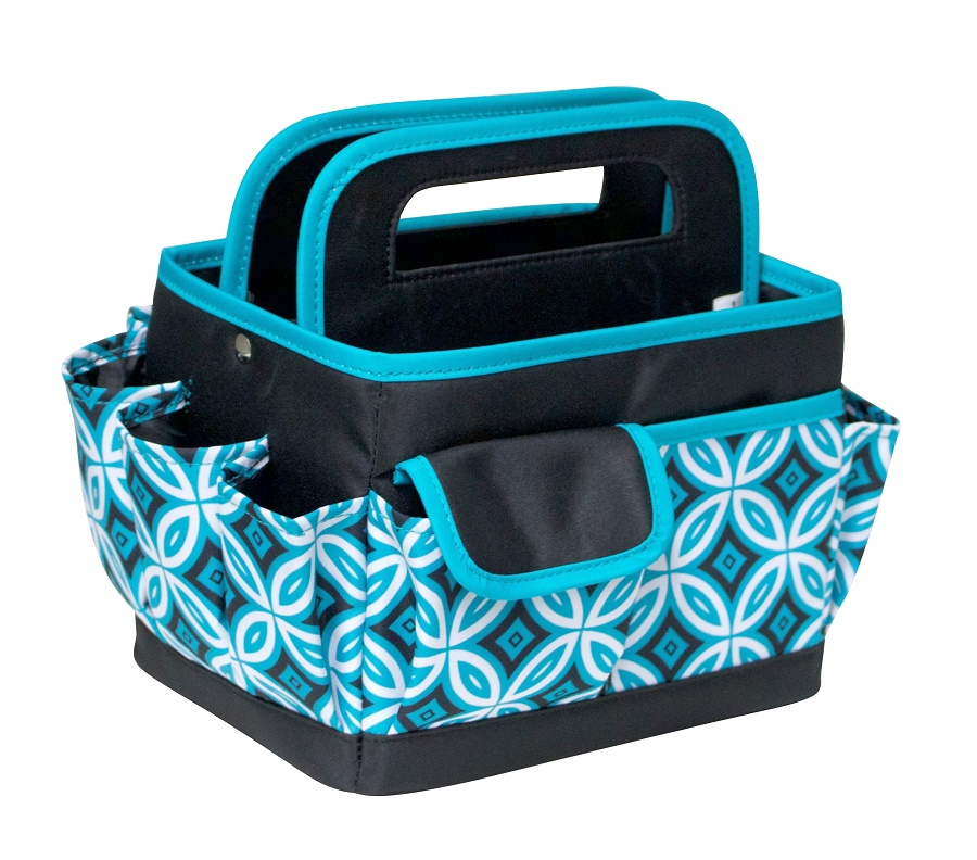 Everything Mary Black And Teal Desktop Organizer
