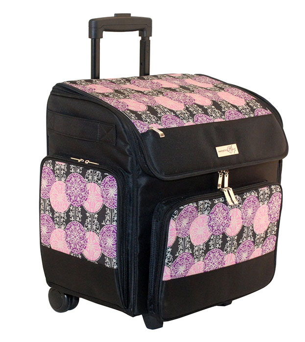 Everything Mary - Rolling Scrapbook Tote - Purple and Black 9fbb15503c