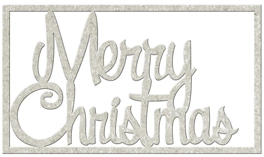 FabScraps Christmas Memories Merry Christmas Die Cut Words