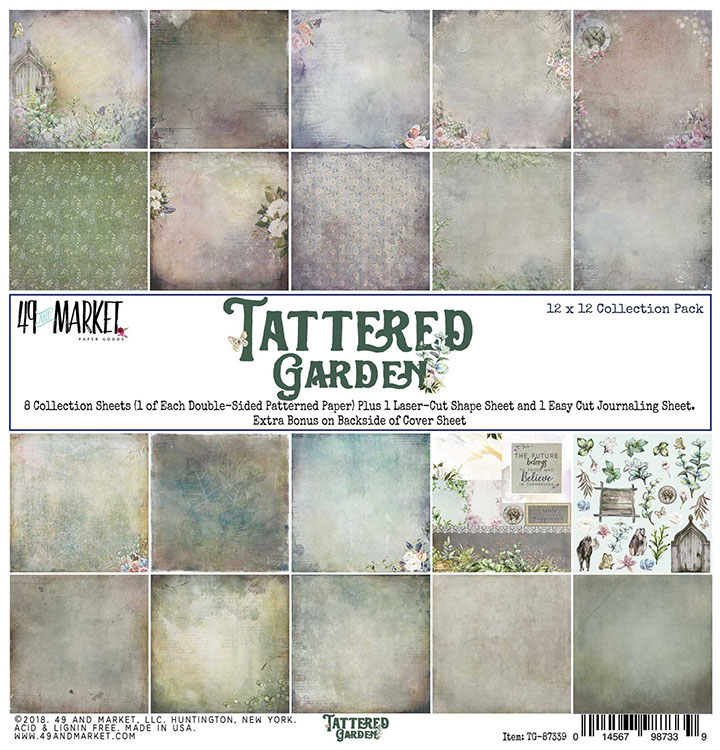 49 and Market - Tattered Garden Collection - 12 x 12 Collection Pack