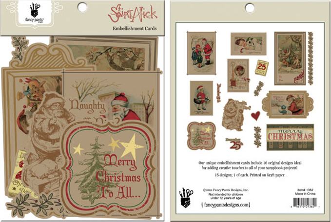 fancy pants designs saint nick collection christmas card embellishments die cut cardstock pieces - Fancy Christmas Cards