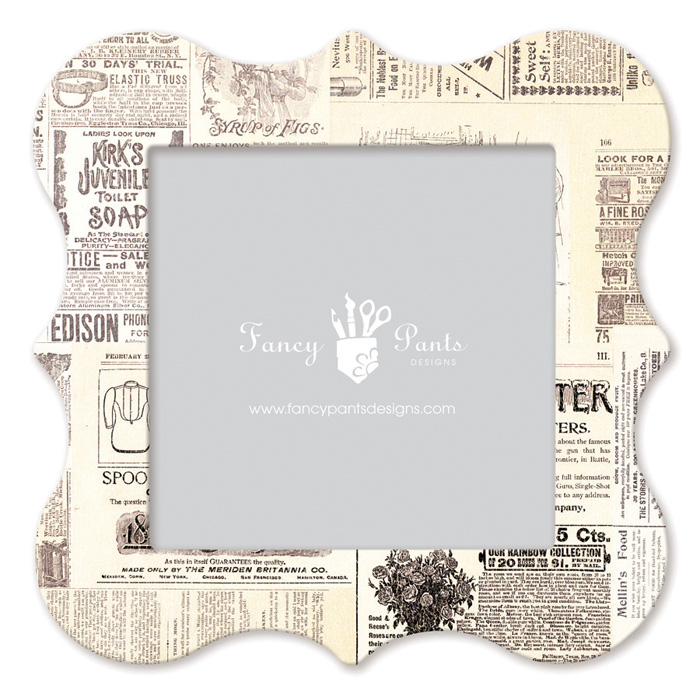 fancy pants designs 12 x 12 frame bracket newsprint