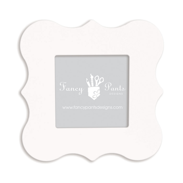 fancy pants designs 6 x 6 frame bracket naked white