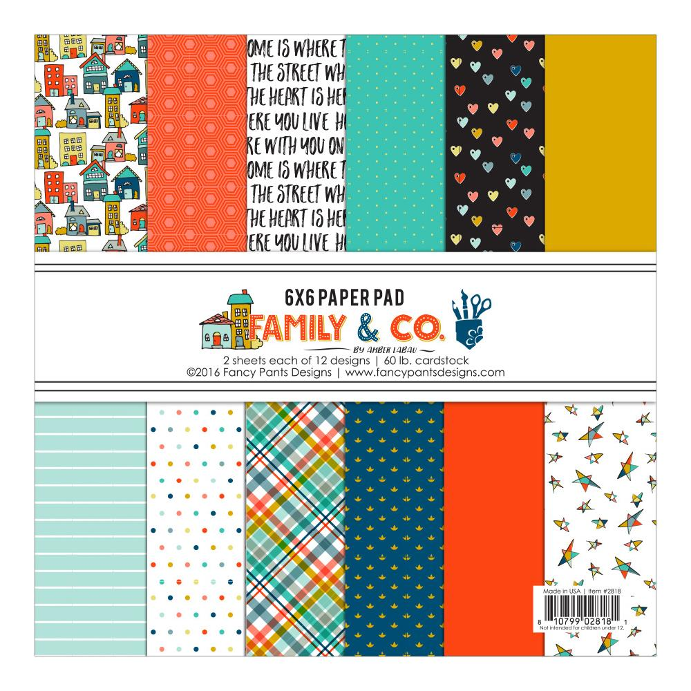 Scrapbook paper collections - Fancy Pants Designs Family And Co Collection 6 X 6 Paper Pad