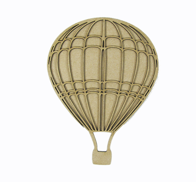 Chipboard Shapes Ideas ~ Grapevine designs and studio large hot air balloon