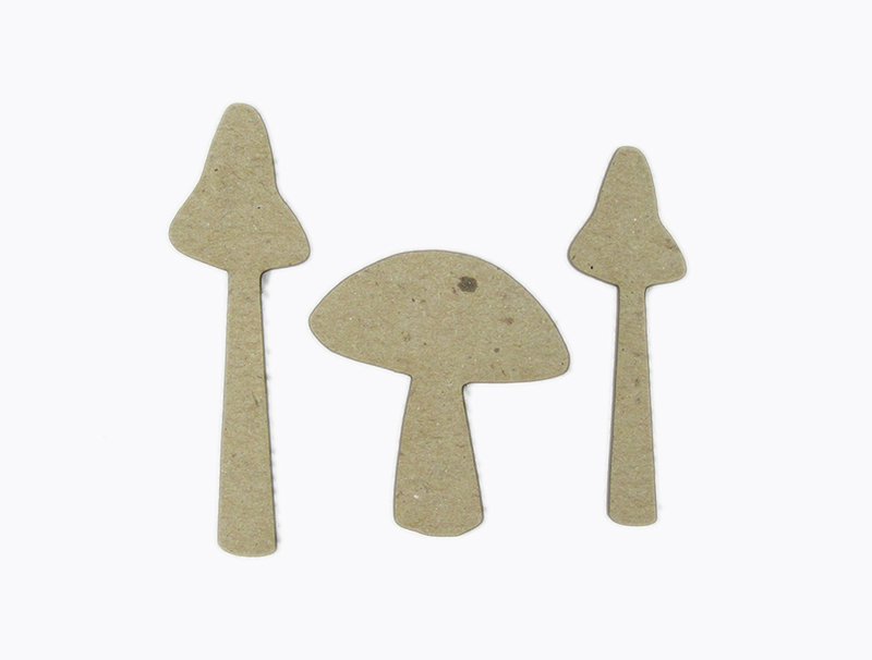 Chipboard Shapes Ideas ~ Grapevine designs and studio mushroom set chipboard shapes