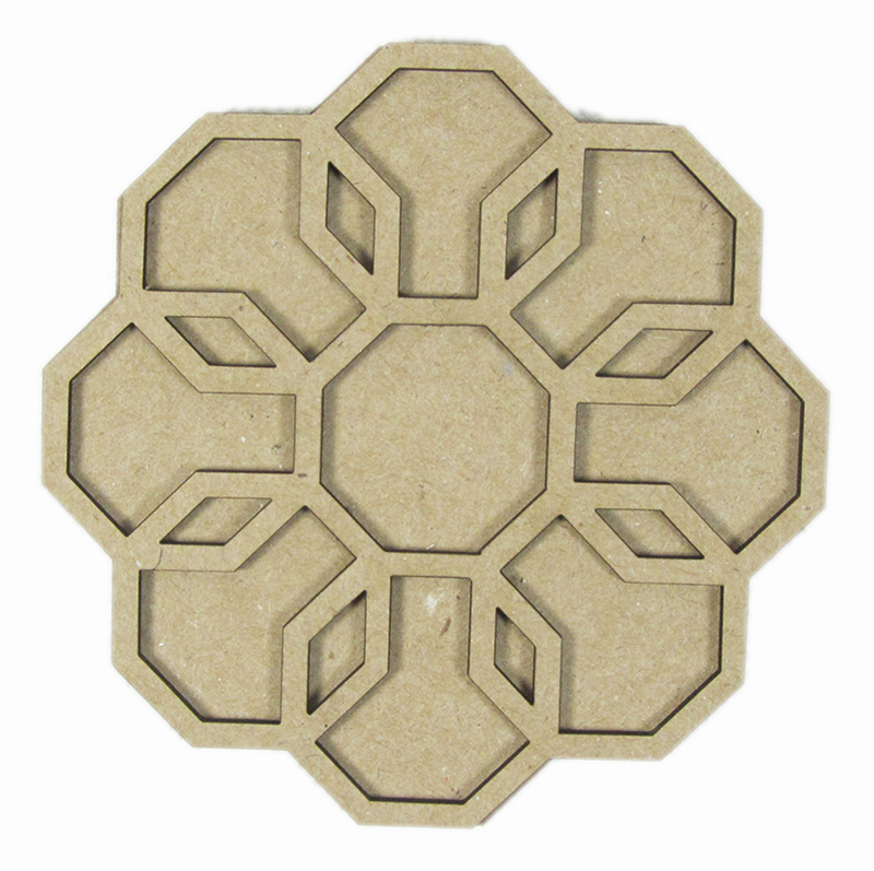 Chipboard Shapes Ideas ~ Grapevine designs and studio geometric layered flower