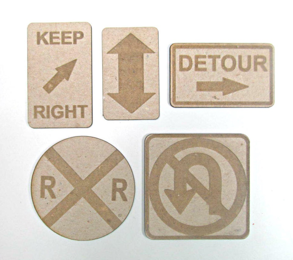 Chipboard Shapes Ideas ~ Grapevine designs and studio road signs chipboard shapes