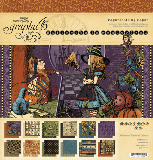 Graphic 45 Halloween In Wonderland Collection 12 X 12 Paper Pad
