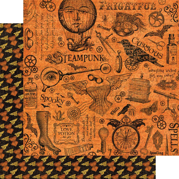 graphic 45 steampunk spells mechanical marvels paper