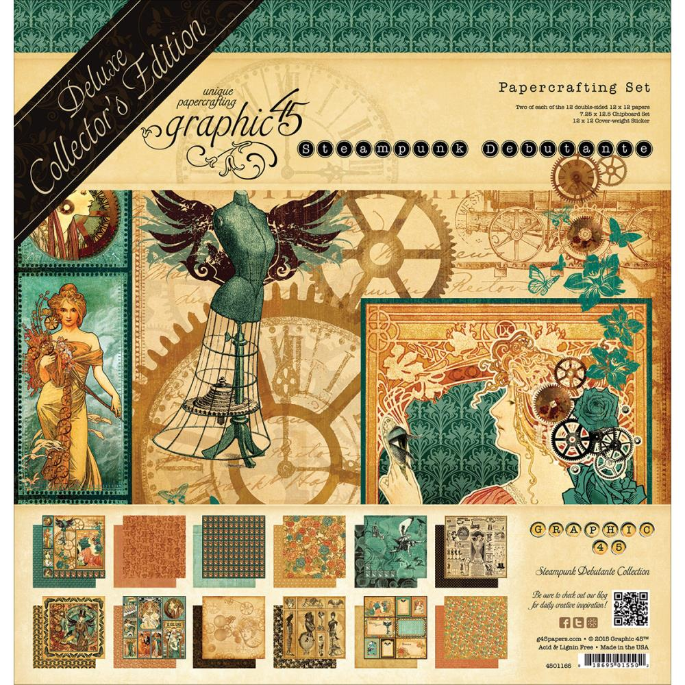 graphic 45 steampunk debutante 12 x 12 papercrafting