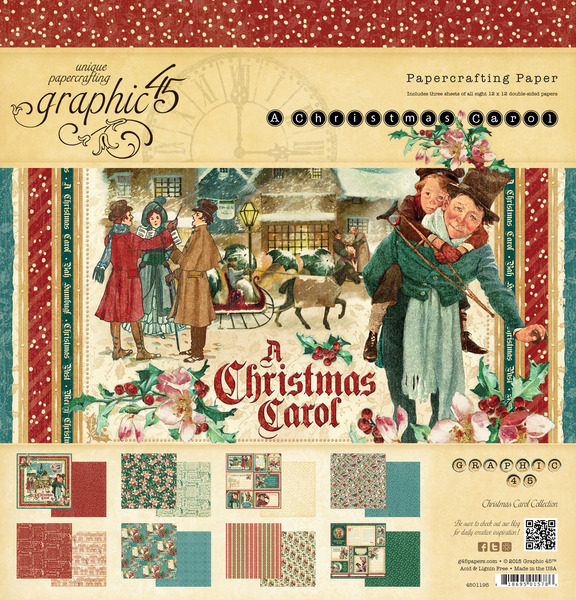 Image result for christmas carol graphic 45 pad
