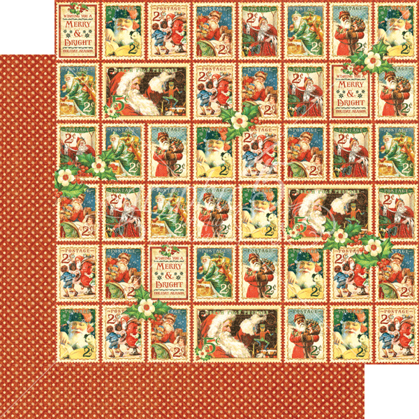 Graphic 45 St Nicholas Christmas Cheer Paper