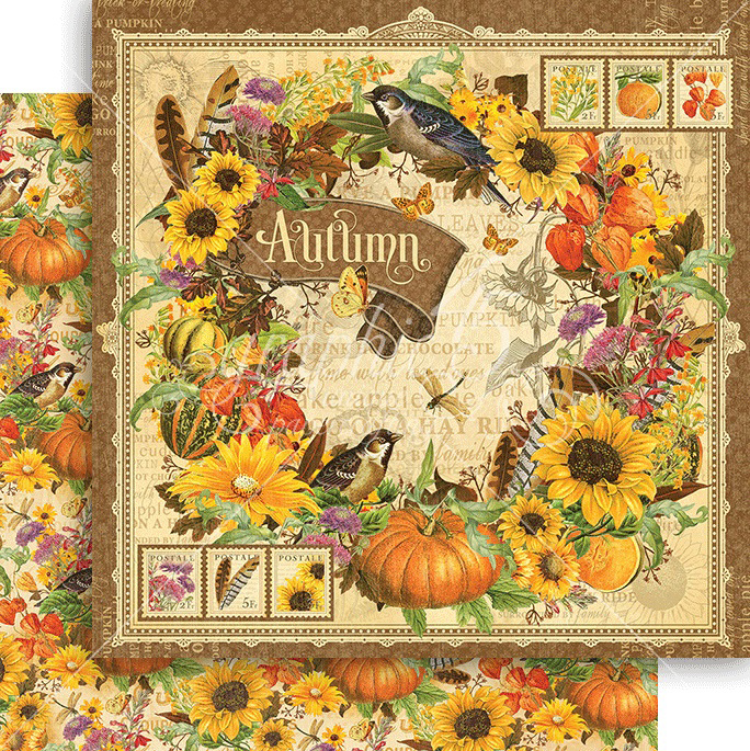 graphic 45 seasons autumn paper. Black Bedroom Furniture Sets. Home Design Ideas