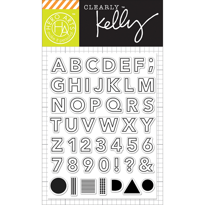 Hero Arts Kelly Purkey Outline Letters Stamps