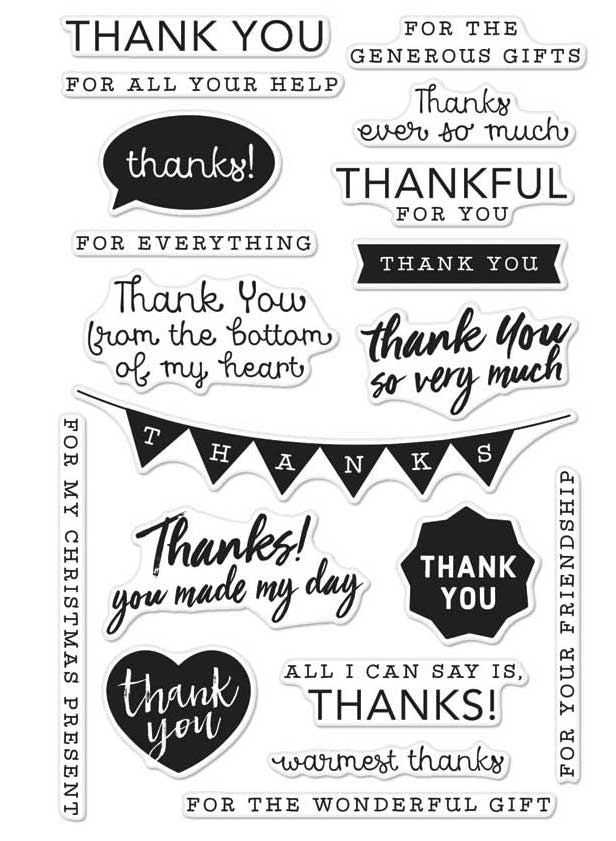 hero arts everyday thank you messages stamps