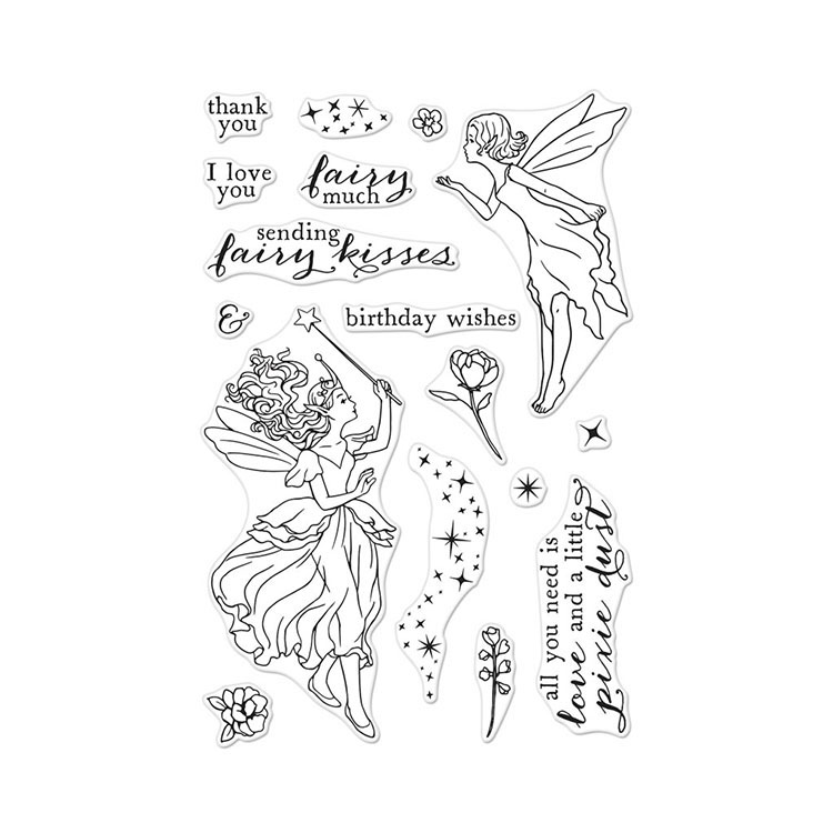 Penny Black Kissing Frogs Cling Stamps