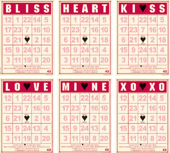 photo regarding Valentine Bingo Printable identify Jenni Bowlin Studio - Mini Bingo Playing cards - Valentine
