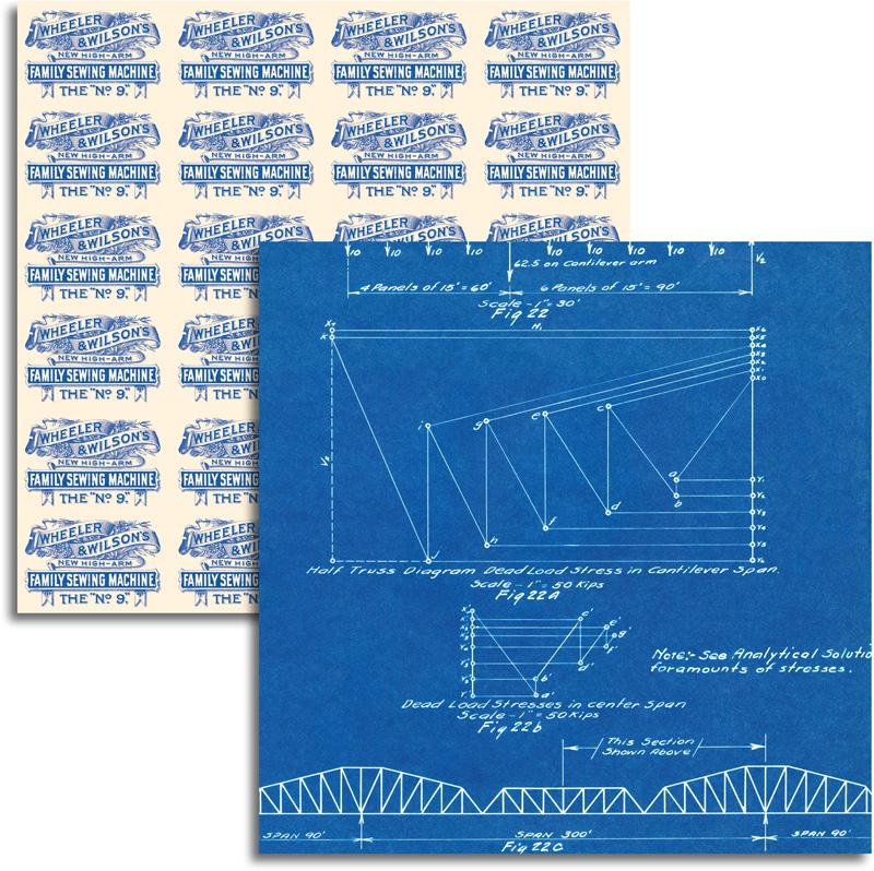 Jenni bowlin studio wren collection 12 x 12 double sided paper jenni bowlin studio wren collection 12 x 12 double sided paper blueprint malvernweather Images