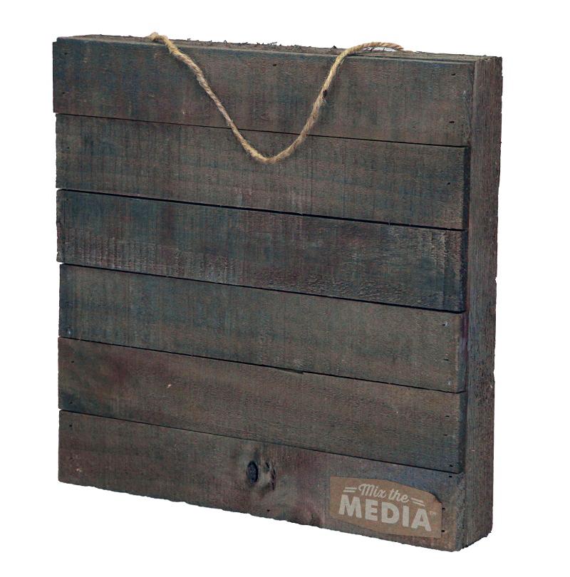 Jillibean Soup Mix The Media 12 X 12 Wood Plank