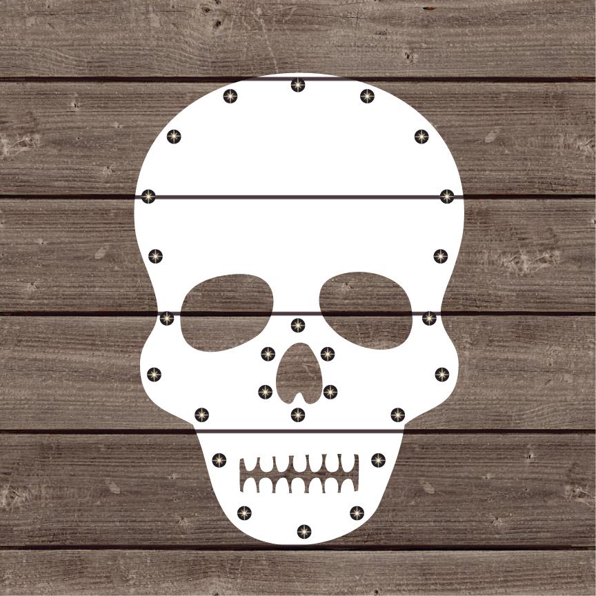 Jillibean Soup Halloween Diy Lighted Wood Sign Kit Skull
