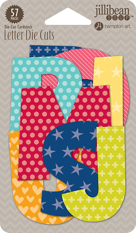 jillibean soup souper celebration collection die cut cardstock pieces letters