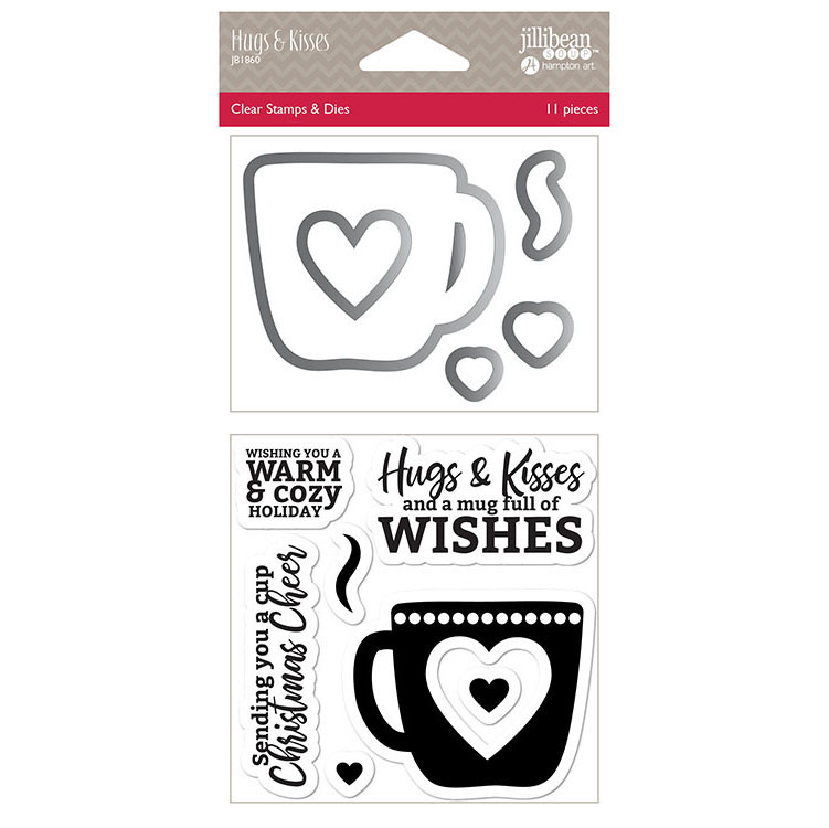 Jillibean Soup Hugs And Kisses Shaker Die And Stamp Set