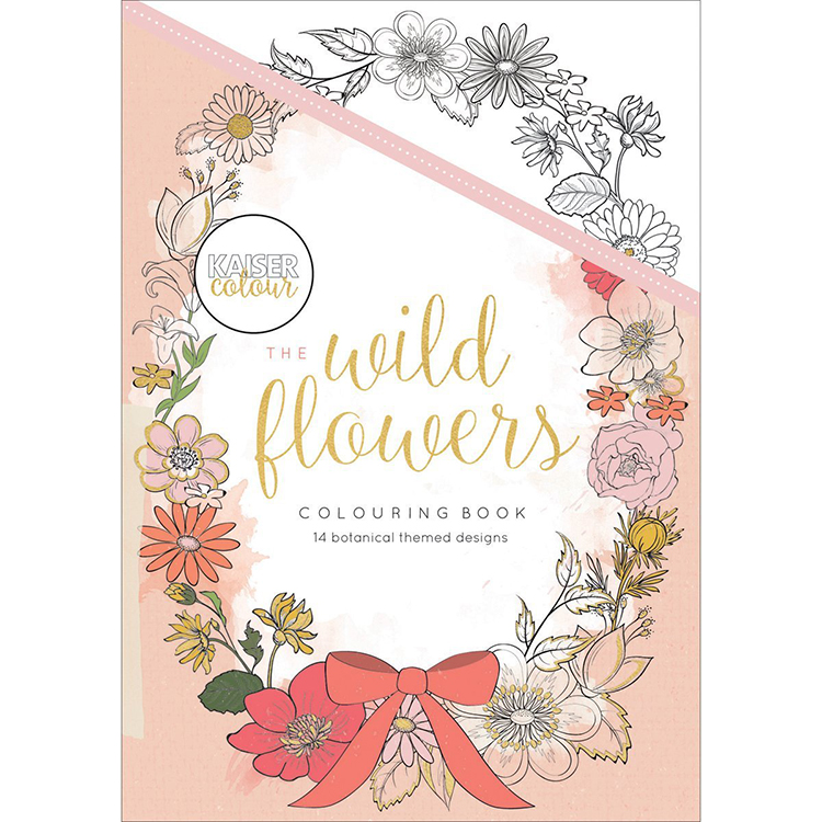Kaisercraft Kaisercolour The Wild Flowers Coloring Book