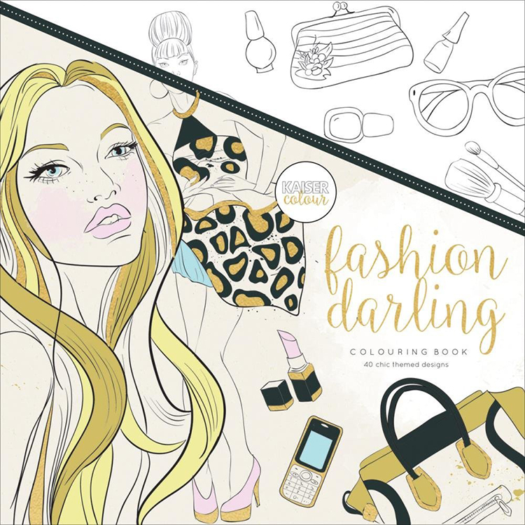 Coloring Book For Fashion : Color gel pens and coloring books with kaisercraft video