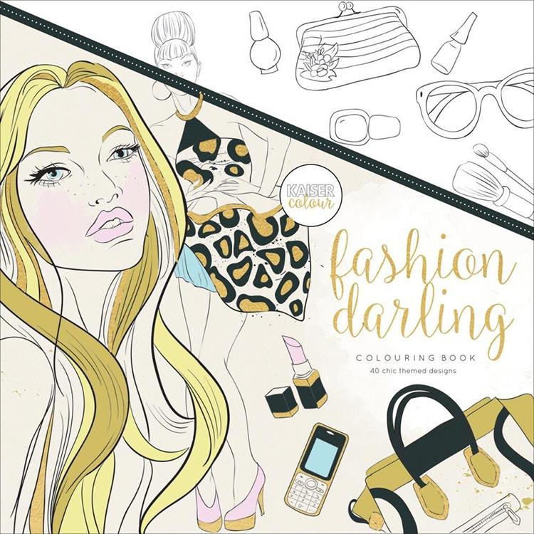 Kaisercraft Kaisercolour Fashion Darling Coloring Book