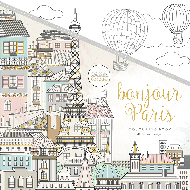 kaisercraft kaisercolour coloring book bonjour paris - Paris Coloring Book