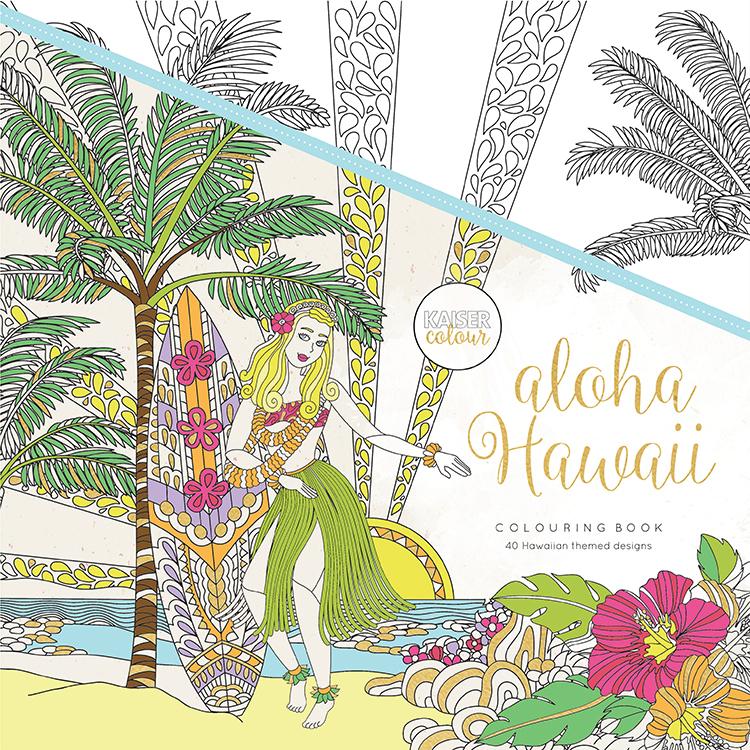 kaisercraft kaisercolour coloring book aloha hawaii - Hawaii Coloring Book