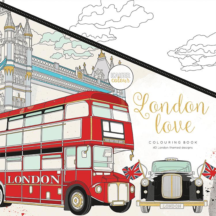 Kaisercraft Kaisercolour London Love Coloring Book