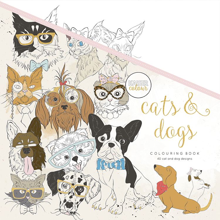 Kaisercraft Kaisercolour Cats And Dogs Coloring Book