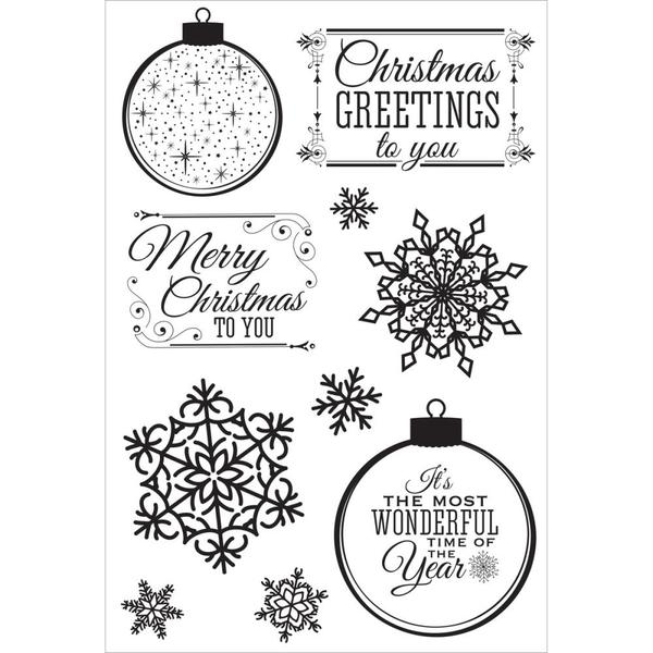 Mr Snowman On Christmas Is Getting Cold Coloring Page: Kaisercraft Silver Bells Stamps