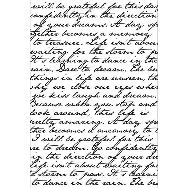 kaisercraft script background stamp