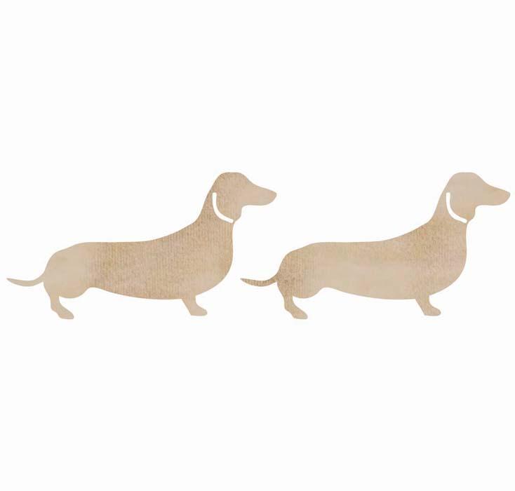 kaisercraft sausage dog wood pieces