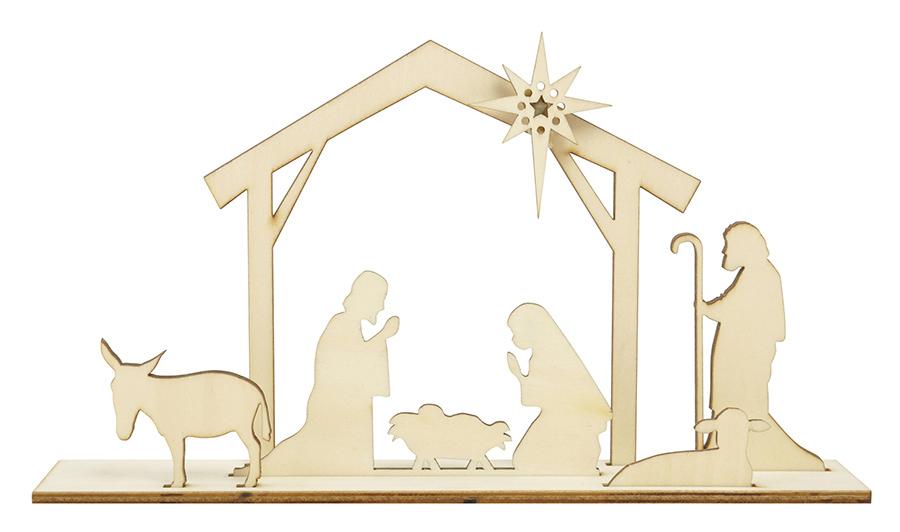 Kaisercraft Nativity Scene Flourishes Die Cut Wood Pieces