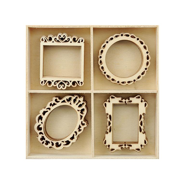Kaisercraft Flourishes Frames Die Cut Wood Pieces Pack