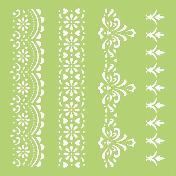 kaisercraft lace borders 6x6 stencils