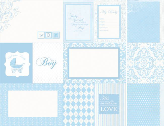 lullaby collection 12 x 12 sided paper baby shower