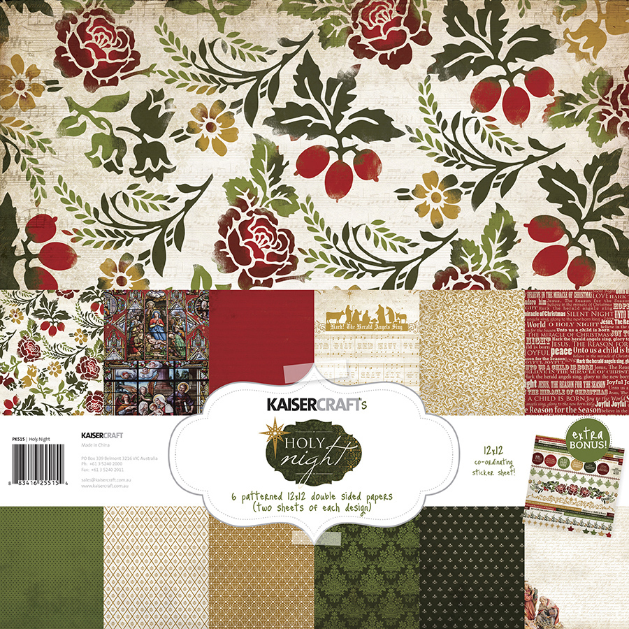 Scrapbook paper collections - Kaisercraft Holy Night Collection Christmas 12 X 12 Paper Pack