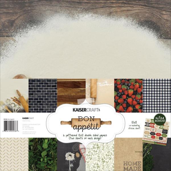 Kaisercraft Bon Appetit 12x12 paper pack