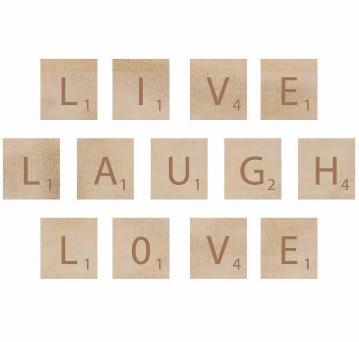 live laugh love block letters