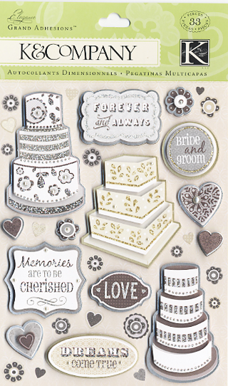 K And Company Elegance Collection Grand Adhesions Stickers