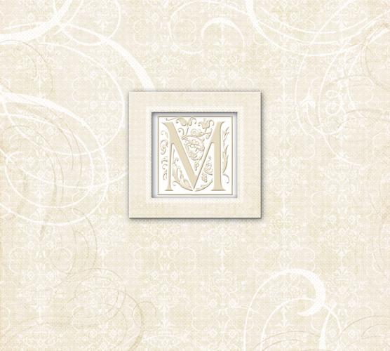 K and Company 12 x 12 Scrapbook Album Wedding Elegant Scrolls