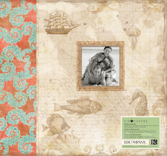 K And Company Travel Collection 12 X 12 Scrapbook Album