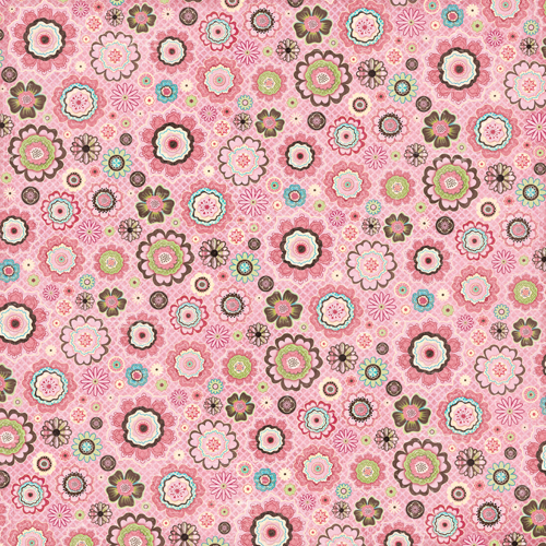 K And Company Blossom Collection 12 X 12 Paper Pink Flowers