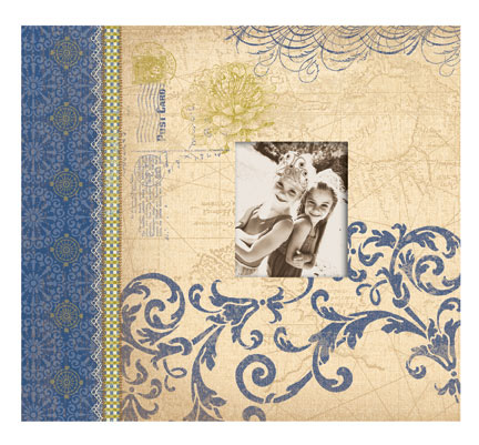 K And Company Blue Awning Collection 12x12 Scrapbook Album