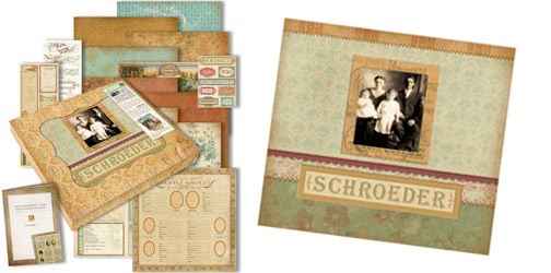 K And Company Ancestry Collection 12x12 Deluxe Scrapbook Kit